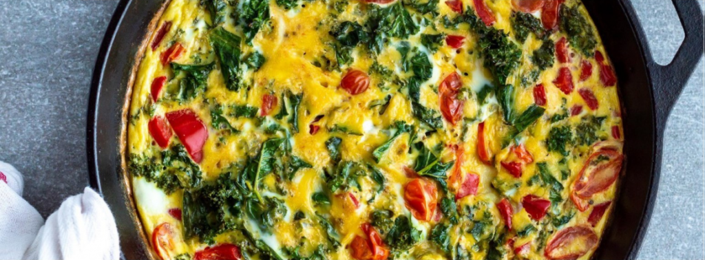 Kale & Red Pepper Frittata Recipe